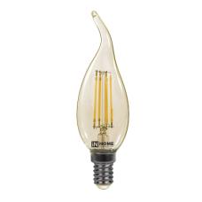 (W) Лампа сд свеча на ветру-deco 7Вт Е14 теплый 630Лм золотистая IN HOME