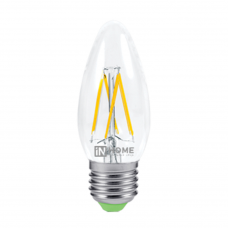 Лампа сд свеча-deco 5Вт Е14 нейтральный 450Лм прозрачная IN HOME (A6765)