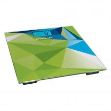 Весы напольные абстракция зелено-синяя LED подсветка до 180 кг ELX-SB03-C34