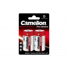 Camelion LR20 Plus Alkaline BL-2 (LR20-BP2, батарейка,1.5В)