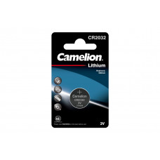 Camelion Батарейка CR2032-BP1, литиевая,3V
