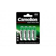 Батарейка АА блистере 4шт, солевая R6P-BP4G Camelion