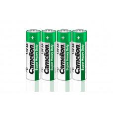 Батарейка АА в пленке 4шт R6P-SP4G 1.5В Camelion