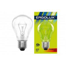 Лампа накаливания 40Вт в инд. упаковке A50 Ergolux INC-A50-40W-E27-CL