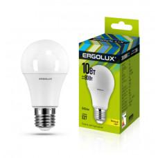Ergolux LED-A60-10W-E27-3K (Эл.лампа светодиодная ЛОН 10Вт E27 3000K 172-265В)