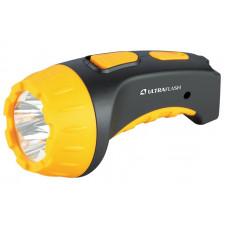 Ultraflash LED3804 (фонарь аккум 220В, черный/желтый, 4 LED, SLA, пластик, коробка)