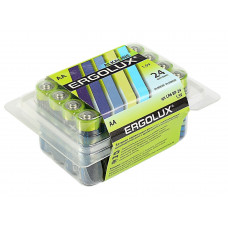 Ergolux Батарейка АА в коробке 24шт LR6 Alkaline BP-24 1.5В