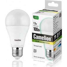 Лампа светодиодная A60 13Вт 220В Camelion LED13-A60/830/E27