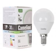 Лампа светодиодная Шар 7Вт нейтральный 220В Camelion LED7-G45/845/E27