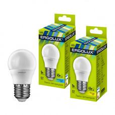 Лампа светодиодная Шар 7Вт нейтральный 172-265В Ergolux LED-G45-7W-E27-4K