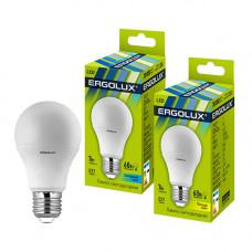 Лампа светодиодная A60 7Вт нейтральный 172-265В Ergolux LED-A60-7W-E27-4K