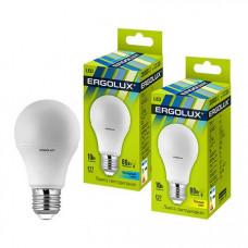 Лампа светодиодная A60 10Вт нейтральный 172-265В Ergolux LED-A60-10W-E27-4K