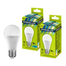 Лампа светодиодная A60 12Вт нейтральный 172-265В Ergolux LED-A60-12W-E27-4K