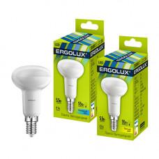 Лампа светодиодная R50 5.5Вт нейтральный 172-265В Ergolux LED-R50-5.5W-E14-4K