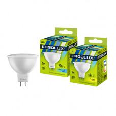 Лампа светодиодная JCDR 5Вт нейтральный 172-265В Ergolux LED-JCDR-5W-GU5.3-4K