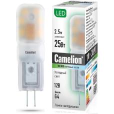 Лампа светодиодная 2.5Вт 4500К 12В AC/DC Camelion LED2.5-JC-SL/845/G4
