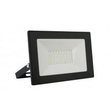 Прожектор светодиодный черный 50Вт 6500К 230В Ultraflash LFL-5001
