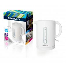 Чайник электрический пластиковый 1,7л 1500-2300Вт 160-250В Ergolux ELX-KH01-C01