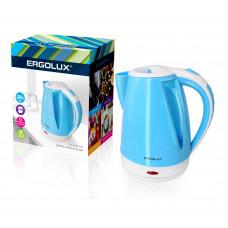 Чайник электрический пластиковый дисковый 1,8л 1500-2300Вт 160-250В Ergolux ELX-KP02-C35