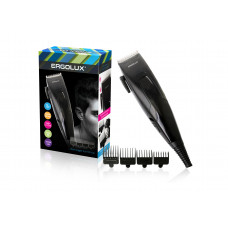 Машинка для стрижки волос 4 насадки 3,6,9,12мм черный 15Вт 230В Ergolux ELX-HC01-C48
