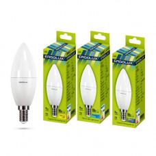 Лампа светодиодная Свеча 9Вт нейтральный 172-265В Ergolux LED-C35-9W-E14-4K