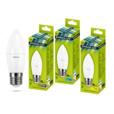 Лампа светодиодная Свеча 9Вт нейтральный 172-265В Ergolux LED-C35-9W-E27-4K