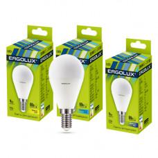 Ergolux LED-G45-9W-E14-4K (Эл.лампа светодиодная Шар 9Вт E14 4500K 172-265В)