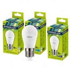 Ergolux LED-G45-9W-E27-4K (Эл.лампа светодиодная Шар 9Вт E27 4500K 172-265В)