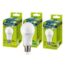 Лампа светодиодная A60 17Вт нейтральный 172-265В Ergolux LED-A60-17W-E27-4K