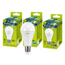 Лампа светодиодная A60 20Вт нейтральный 172-265В Ergolux LED-A65-20W-E27-4K