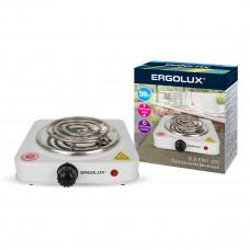 Электроплитка 1 конфорочная спиральный нагреватель белый 1000Вт 230В Ergolux ELX-EP01-C01