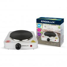 Электроплитка 1 конфорочная дисковый нагреватель белый 1000Вт 230В Ergolux ELX-EP03-C01