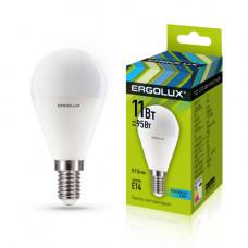 Лампа светодиодная Шар 11Вт нейтральный 172-265В Ergolux LED-G45-11W-E14-4K