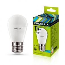 Лампа светодиодная Шар 11Вт нейтральный 172-265В Ergolux LED-G45-11W-E27-4K