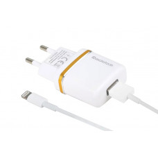 Сетевое Зарядное Устройство USB 2100mA + кабель iPhone 5 - белый Reddax RDX-013
