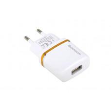 Сетевое Зарядное Устройство USB 2100mA - белый Reddax RDX-013