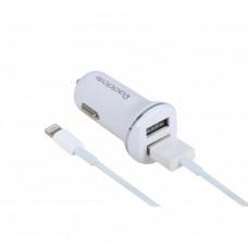Автомобильное Зарядное Устройство USB 2400mA - белый Reddax RDX-102