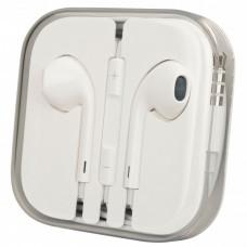 Наушники Apple iPhone 5 (3А) + регулятор - белый