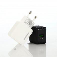 Сетевое Зарядное Устройство USB 2400mA черный Reddax RDX-026