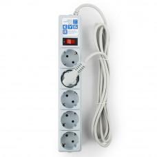 Power Cube Сетевой Фильтр серый 5х с заземлением + 1х 5м 10А