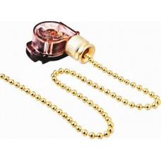 Выключатель для бра (золото) цепочка